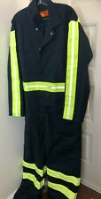 Red Kap Men's Enhanced Visibility Action Back Coverall,Navy/Yellow/Green,48 Long
