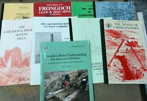 Job lot of 9 British Mining Paperback Books (B4)