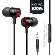 In-Ear Supper Bass Metal Earbuds Wired Headphones Earphones with Microphone 2Y