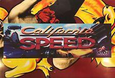 California Speed Arcade Marquee Atari Translight Header Sign Mylar Backlit