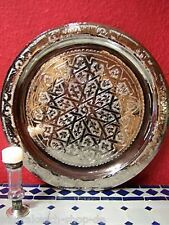 Arabian Oriental Moroccan Morocco Brass Handcrafted Engraved Serving Tea Tray 40