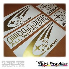 Vinyl Car Decal Sticker Pack - SUBARU WRX 4WD AWD Graphics - Scooby Rally STI