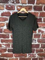 $120 AllSaints S Military Two Box Label Designer New York Crewneck T Shirt