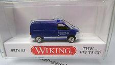 Wiking 093803 Volkswagen VW t 5 gp recuadro-THW-scale 1/160 n