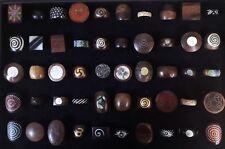 50 PCS Wholesale Jewellery Mixed Natural Handmade Wood Bone Fashion Ring Lot 82