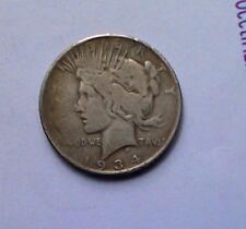 1934-$1 Peace Silver Dollar  U.S. Collectible Coin