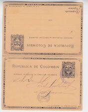 columbia 1901 double cards from cartagena via Ny to germany a2188