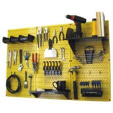 Yellow Metal Pegboard Standard Tool Storage Kit Organizer 32 inch x 48 in Garage