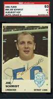 Joe Schmidt 1961 Fleer Signed Sgc Original Authentic Autograph