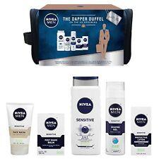 NIVEA Men Dapper Duffel Gift Set 5 Piece Sensitive Skin Face Wash Shave Grooming