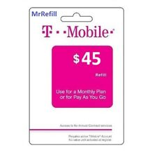 T-Mobile $45 Refill - fast & right