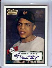 Willie Mays 2001 Team Topps Legends Reprint Auto Autograph Giants #TT1R