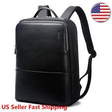Bopai Men Leather Backpack Laptop Bag Business Shoulder Rucksack Briefcase 14-15