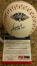 Alexi Ogando Signed OML All Star Baseball Rangers Red Sox PSA DNA COA