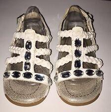 Pediped Flex Phoebe Rhinestone Gem Sandals Memory Foam Size 7.5 - 8 Narrow