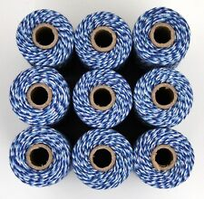 BAKERS TWINE - TWO TONE BLUE WHITE - ONE 100m roll 12ply - gift wrapping