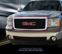 Black Billet Grille Front Upper Grill For GMC Sierra 1500/Denali 2007-2013
