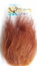 """Fly Tying Synthetics """" STREAMER HAIR """" big patch  RUST    Musky,Pike,Bass"""