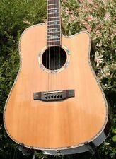 Weller Edel Western guitarra cedro manta Palisander cuerpo, madreperla, fishman-pu