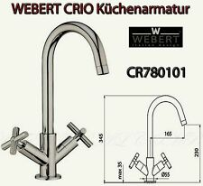 Webert Italy CR780101 CRIO Küchen Spültisch Spülbeckenarmatur H-34cm 360° ch L2