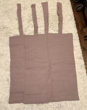 Magic Linen Woodrose Dusty Purple Two Standard Pillowcases 100% Linen Side Ties