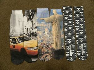 New York, Breaking Bad & Rio De Janeiro Sublemation Men's Socks - Size 9-11