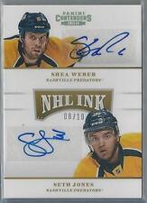 2013-14 PANINI CONTENDERS NHL INK SHEA WEBER / SETH JONES DUAL AUTO 08/10!!