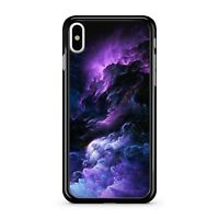 Heavenly Purple Delightful Blue Cloudy Lightning Explosion 2D Phone Case Cover