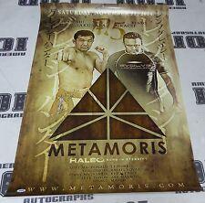 Kazushi Sakuraba Signed Metamoris 5 Poster vs Gracie PSA/DNA COA UFC Pride Rizin