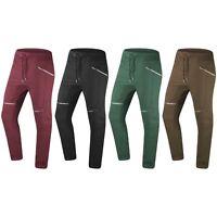 NEW Men Fleece Joggers Zipper Pockets 4 Colors ALL SIZES Pants Elastic Stretch