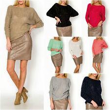 Feine taillenlange 3/4 Arm Damen-Pullover & -Strickware aus Acryl mit