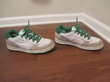 Rare Used Worn Sz 11 DC Shoes Stevie Williams Azure Skateboard Shoes White Green