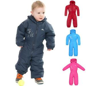 Babies Toddlers Trespass DripDrop Padded Waterproof All In One Snow / RainSuit