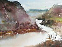 Elan Valley Wales landscape Original Watercolour Painting 402