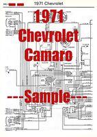 1971 Camaro Wiring Diagram Manual Ebay