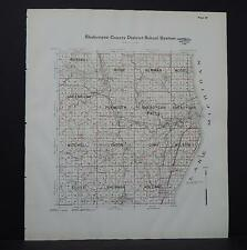 Wisconsin, Sheboygan County Map, 1941 School Districts L22#59