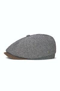 BRIXTON BROOD BAGGY SNAP CAP NEU GREY BROWN GR: M 58 CM