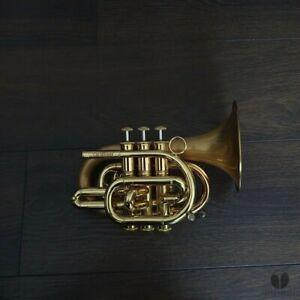 Carolbrass POCKET trumpet BIG BELL 5.25 CPT 3000 GLSD, case | GAMONBRASS