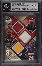 2009-10 SP Game Used LeBron James Michael Jordan Kobe Bryant Patch 34/35 BGS 8.5