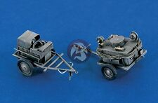 Verlinden 1/48 Luftwaffe Airfield Power Supply and Oil Service Carts WWII 380