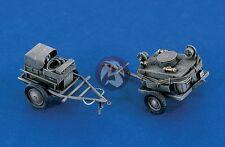 Verlinden 1/48 Luftwaffe Airfield Power Supply and Oil Service Carts WWII 380