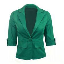 Jacket Cardigan Japan Indie Stylish Unbranded Womens Blazer UK Sz 6-18 Green 12