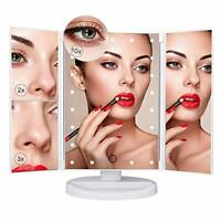 Nestling Makeup Mirror with LED Lights, 21 LED Lights Vanity Cosmetic Mirror