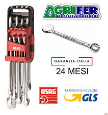 SERIE SET KIT 12 CHIAVI COMBINATE FISSA E STELLA PROFESSIONALI USAG 285 DS12
