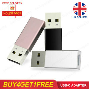 USB C Female to USB A Male Adapter Type C Charger Charging Data Cable Converter