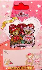 Hong Kong Disney Pin Valentine's Day 2015 - Duffy & ShellieMay - HKDL