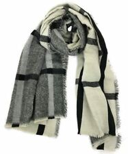 Winter Women Lady 2 Sides Neck Warm Tartan Checked Scarf Shawl Wrap Plaid Stole