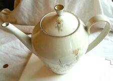 Teekanne Vintage Bavaria Elfenbein Porzellan Blumen Goldrand Super Zustand 50er