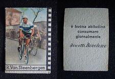 **FIGURINA CICLISMO NANNINA/BOVOLONE** ANNI '50 - R. VAN STEENBERGEN - IN AZIONE