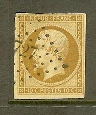"FRANCE STAMP TIMBRE N° 9 "" NAPOLEON 10c BISTRE JAUNE "" OBLITERE A VOIR"